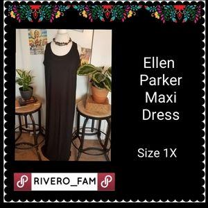 NWT | ELLEN PARKER | BLACK MAXI DRESS